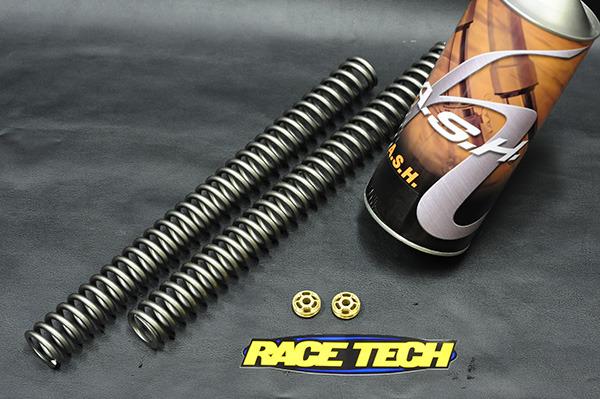 画像1: スポーツスターXL1200S専用 カートリッジフォーク スプリング&オイル/ゴールドバルブキット by RaceTech (1)