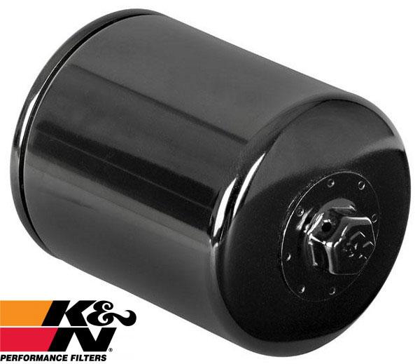 画像1: K&N 化学合成油対応ハイパフォーマンス オイルフィルター/ブラック各種 (1)