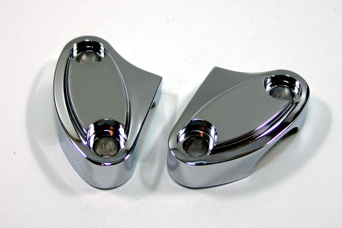 画像1: ビレットスタイル 2ピースライザートップクランプ (1)