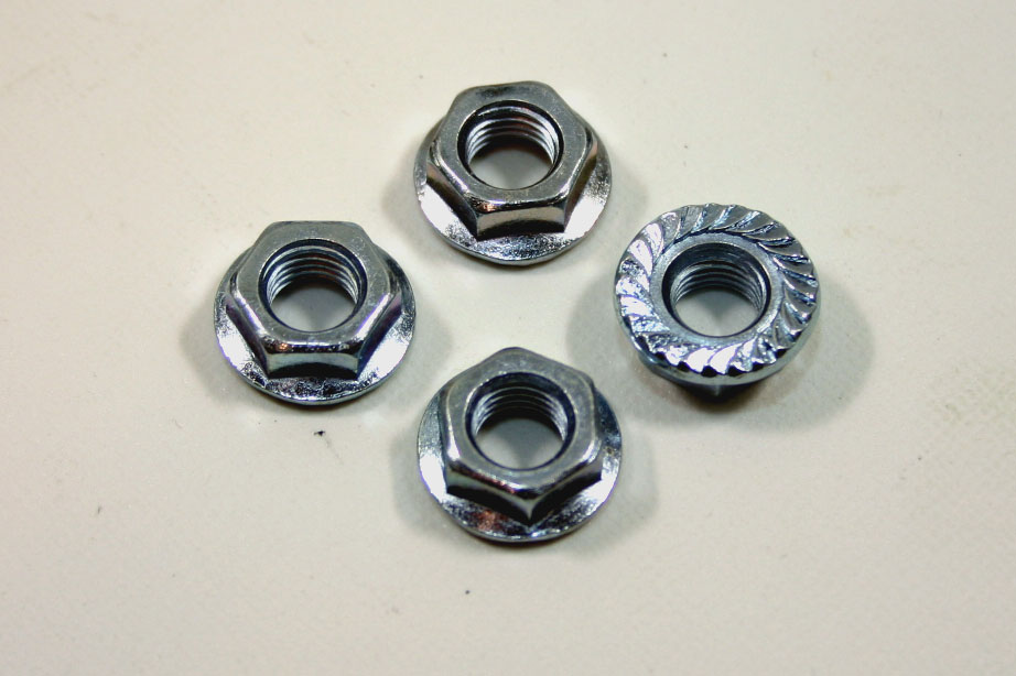 画像1: 亜鉛メッキ マフラーナット 4個 (1)